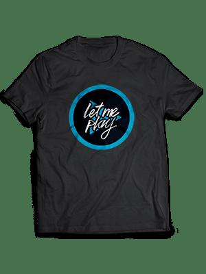 T-Shirt nera Letmeplayitaly
